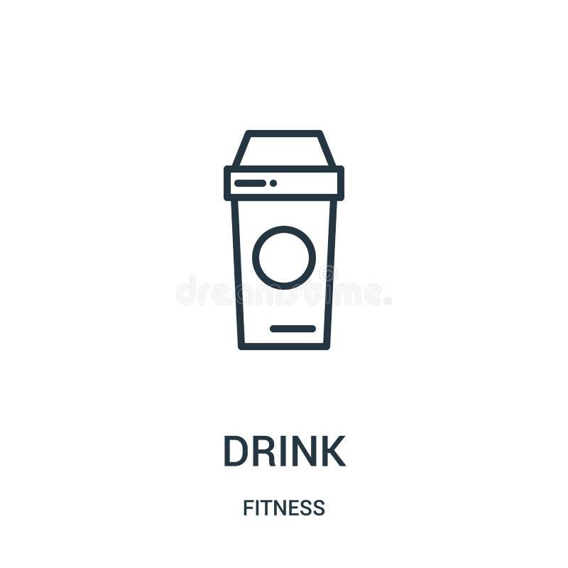 vecteur d'icône de boissons de collection de forme physique Ligne mince illustration de vecteur d'icône d'ensemble de boissons Sy illustration de vecteur