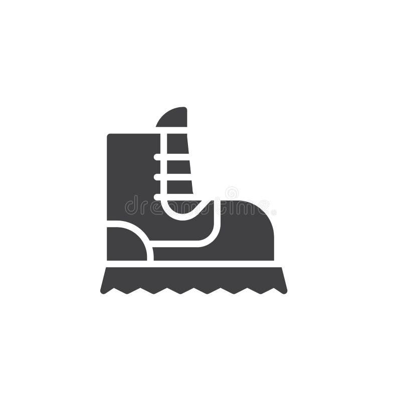 Vecteur d'icône de botte de camping illustration stock
