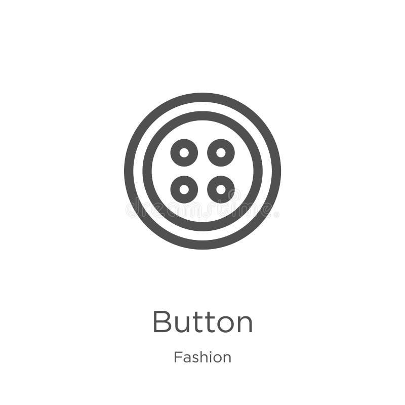 vecteur d'icône de bouton de collection de mode Ligne mince illustration de vecteur d'ic?ne d'ensemble de bouton Contour, ligne m illustration stock