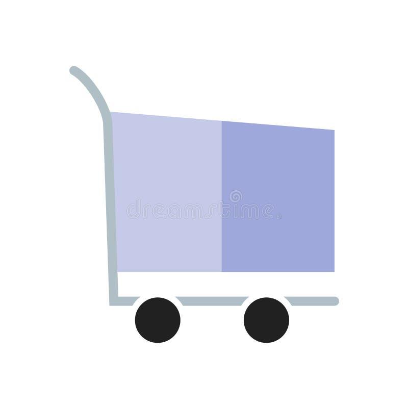 Vecteur d'icône de caddie d'isolement sur le fond blanc, signe de caddie, symboles de la livraison illustration de vecteur