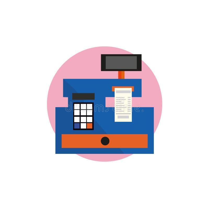 Vecteur d'icône de caisse sur le fond blanc, icônes remplies à la mode de caisse de collection d'affaires, vecteur de caisse illustration stock