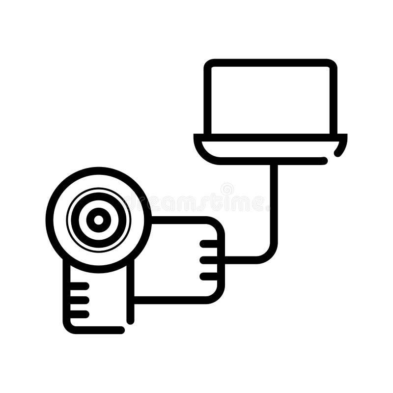 Vecteur d'icône de caméscope illustration libre de droits