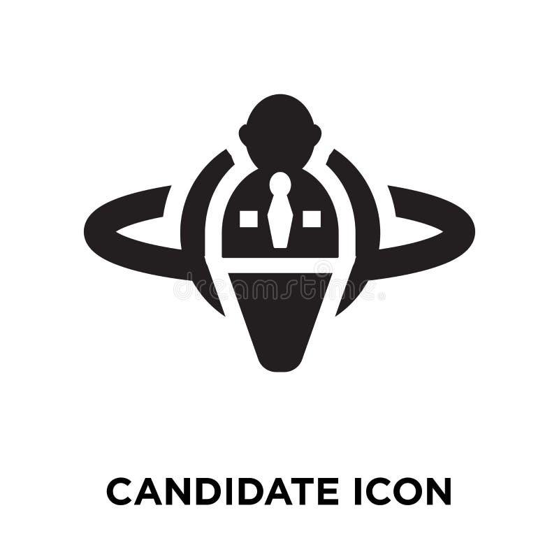 Vecteur d'icône de candidat d'isolement sur le fond blanc, concept de logo illustration stock