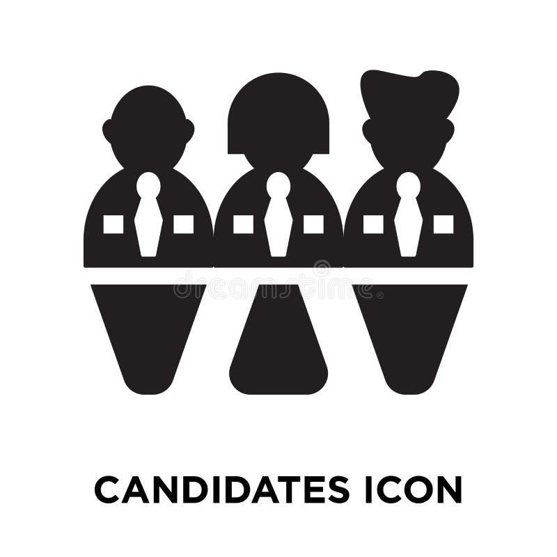 Vecteur d'icône de candidats d'isolement sur le fond blanc, concep de logo illustration stock