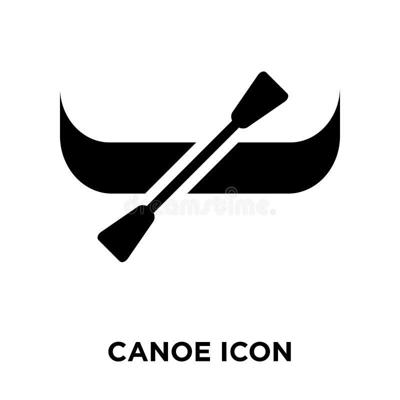 Vecteur d'icône de canoë d'isolement sur le fond blanc, concept de logo de illustration stock