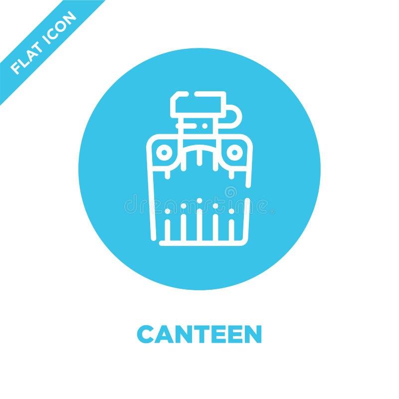 vecteur d'icône de cantine de la collection campante Ligne mince illustration de vecteur d'icône d'ensemble de cantine Symbole li illustration de vecteur