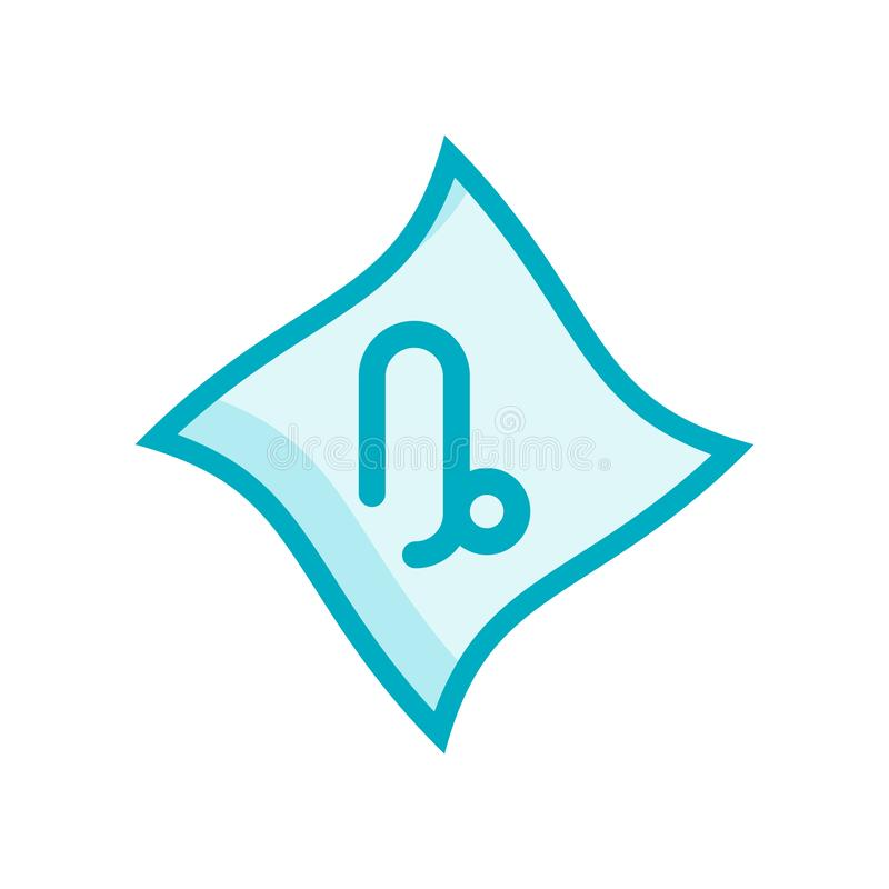 Vecteur d'icône de Capricorne d'isolement sur le fond blanc, Capricorne SI illustration libre de droits