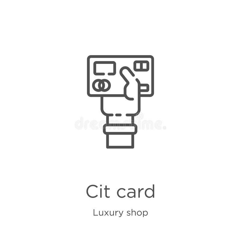 vecteur d'icône de carte de crédit de la collection de luxe de magasin Ligne mince illustration de vecteur d'ic?ne d'ensemble de  illustration de vecteur