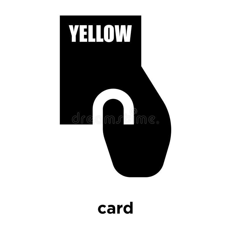 Vecteur d'icône de carte jaune d'isolement sur le fond blanc, conce de logo illustration stock