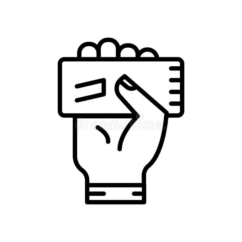 Vecteur d'icône de carte jaune d'isolement sur le fond blanc, le signe de carte jaune, la ligne ou le signe linéaire, conception  illustration de vecteur