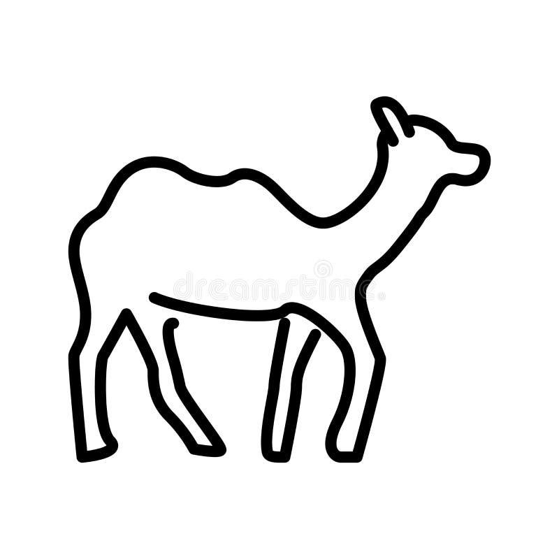 Vecteur d'icône de chameau d'isolement sur le fond blanc, signe de chameau illustration libre de droits