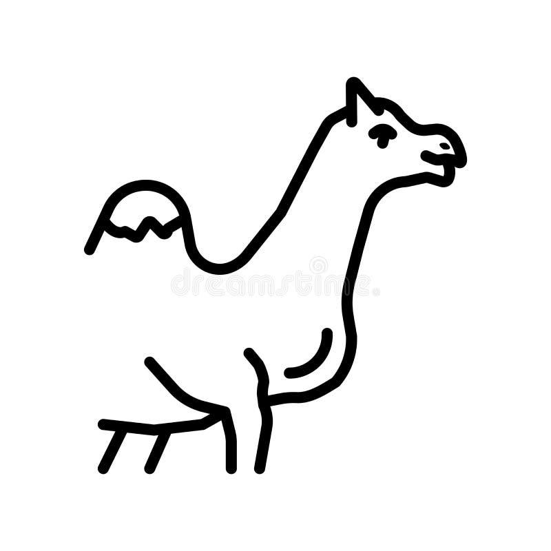 Vecteur d'icône de chameau d'isolement sur le fond blanc, signe de chameau illustration de vecteur