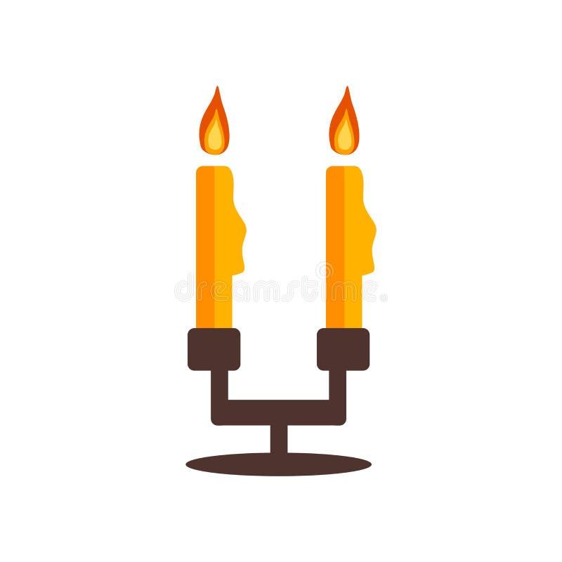Vecteur d'icône de chandelier d'isolement sur le fond blanc, Candlestic illustration stock