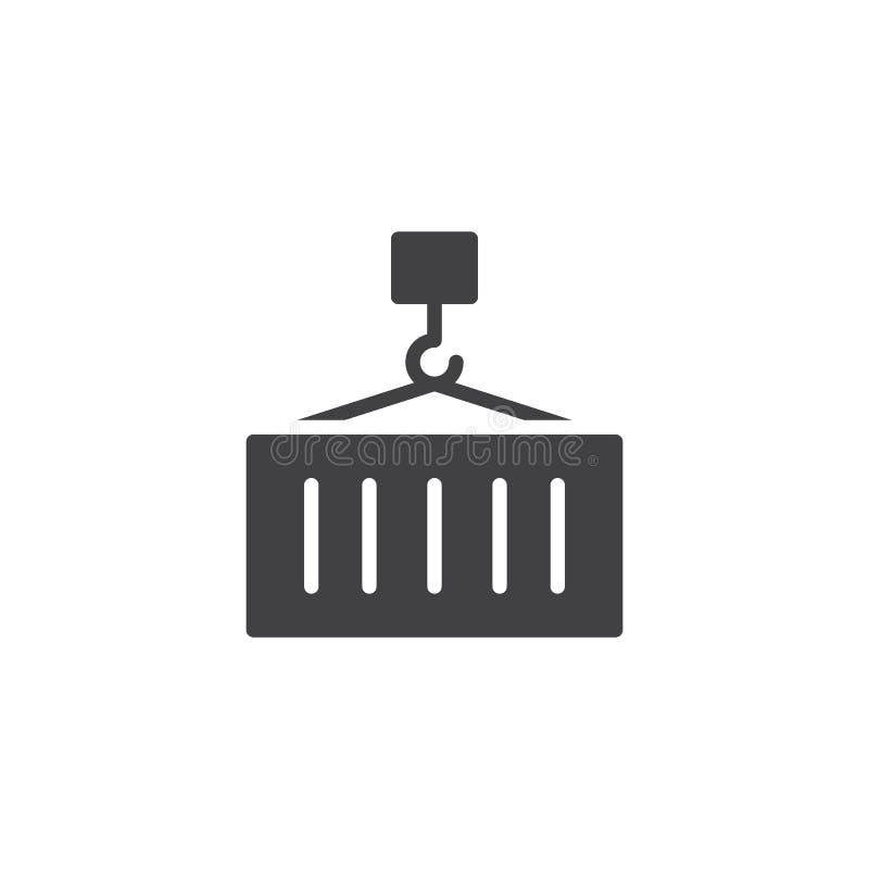 Vecteur d'icône de chargement de récipient de cargaison illustration stock