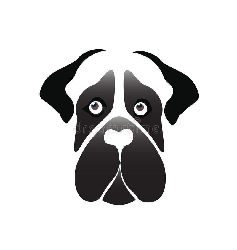 Vecteur d'icône de chien de mastiff illustration de vecteur