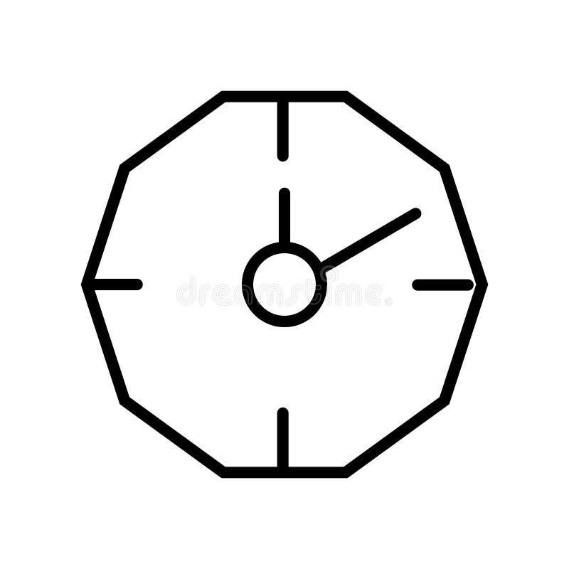 Vecteur d'icône de chronomètre d'isolement sur le fond, le signe de chronomètre, la ligne et les éléments blancs d'ensemble dans  illustration de vecteur