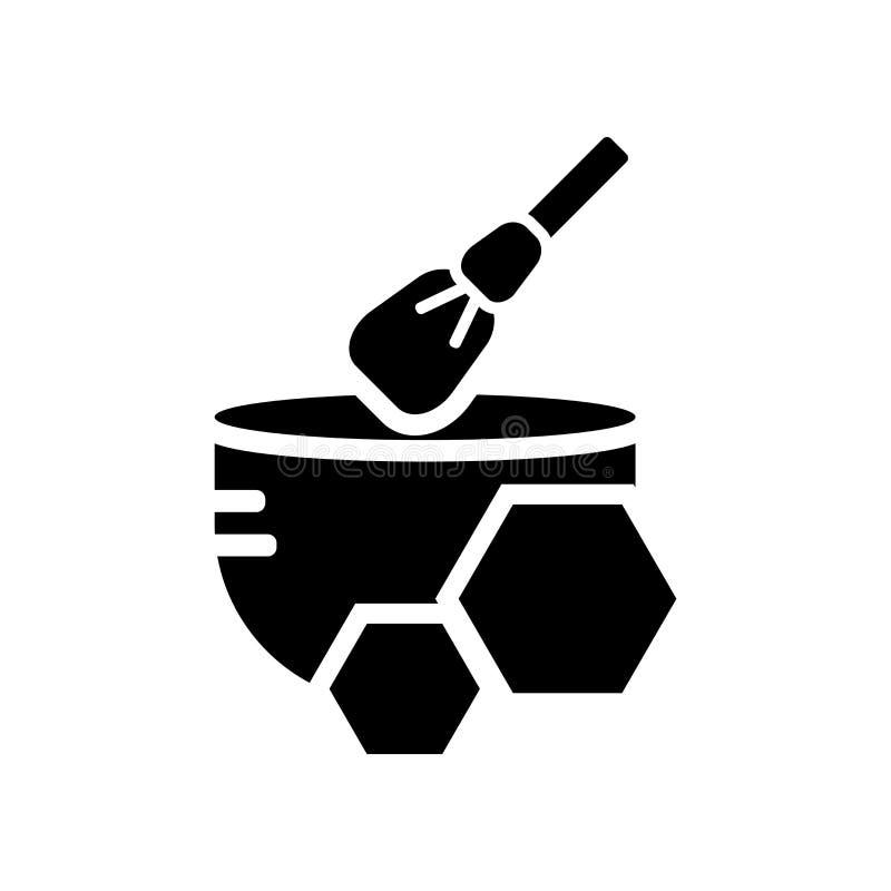 Vecteur d'icône de cire d'isolement sur le fond blanc, signe de cire, f noir illustration de vecteur