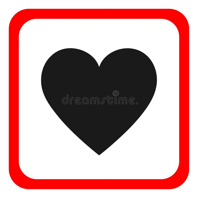 Vecteur d'icône de coeur Icône ronde, conception plate illustration de vecteur