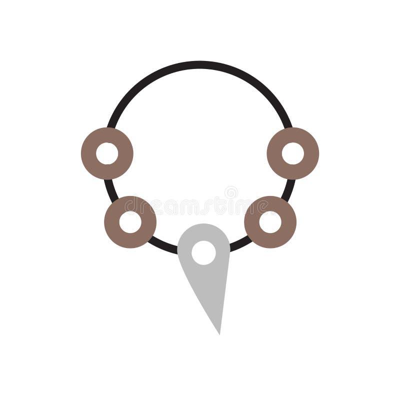 Vecteur d'icône de collier d'isolement sur le fond blanc, signe de collier, symboles historiques d'âge de pierre illustration libre de droits