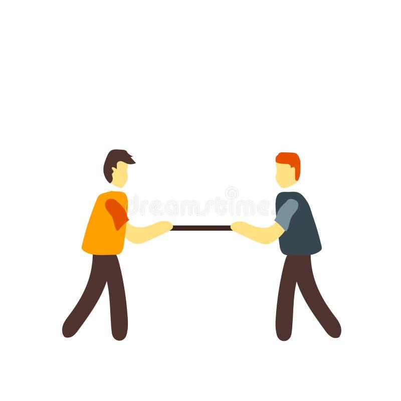 Vecteur d'icône de conflit d'isolement sur le fond blanc, signe de conflit illustration libre de droits