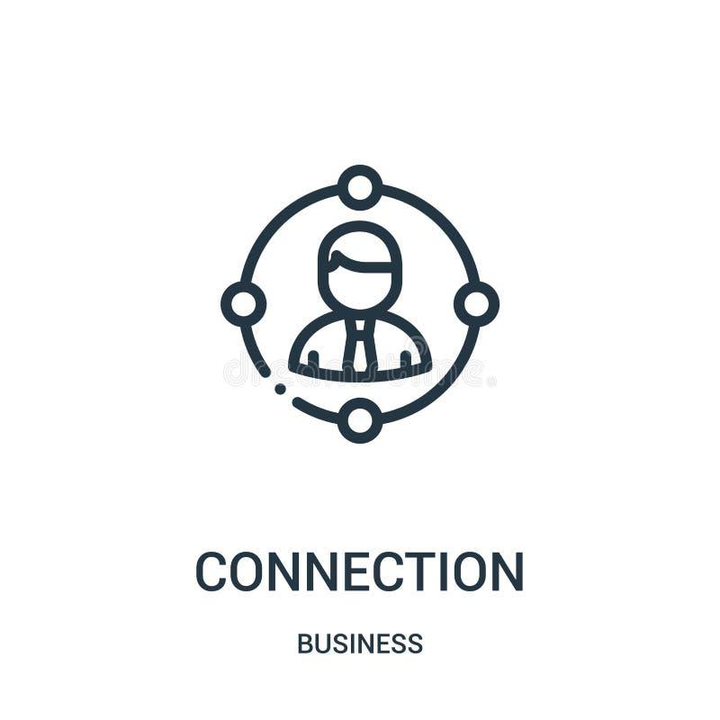 vecteur d'icône de connexion de collection d'affaires Ligne mince illustration de vecteur d'ic?ne d'ensemble de connexion Symbole illustration stock