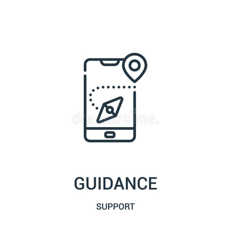 vecteur d'icône de conseils de collection de soutien Ligne mince illustration de vecteur d'icône d'ensemble de conseils Symbole l illustration de vecteur