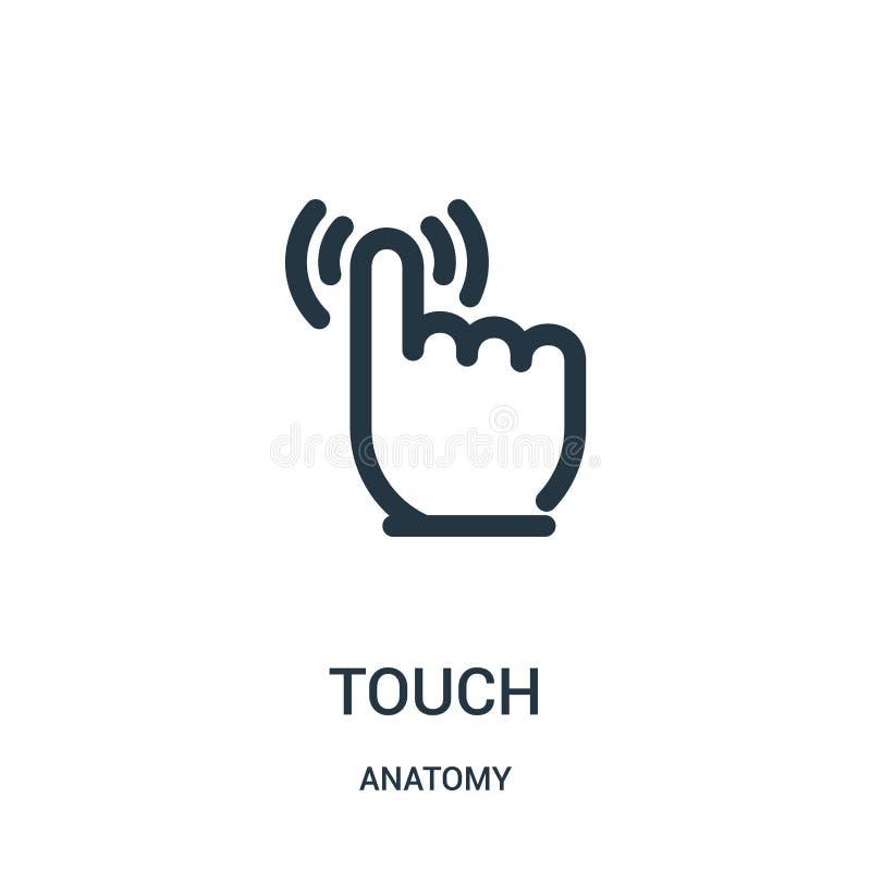 vecteur d'icône de contact de collection d'anatomie Ligne mince illustration de vecteur d'icône d'ensemble de contact Symbole lin illustration de vecteur