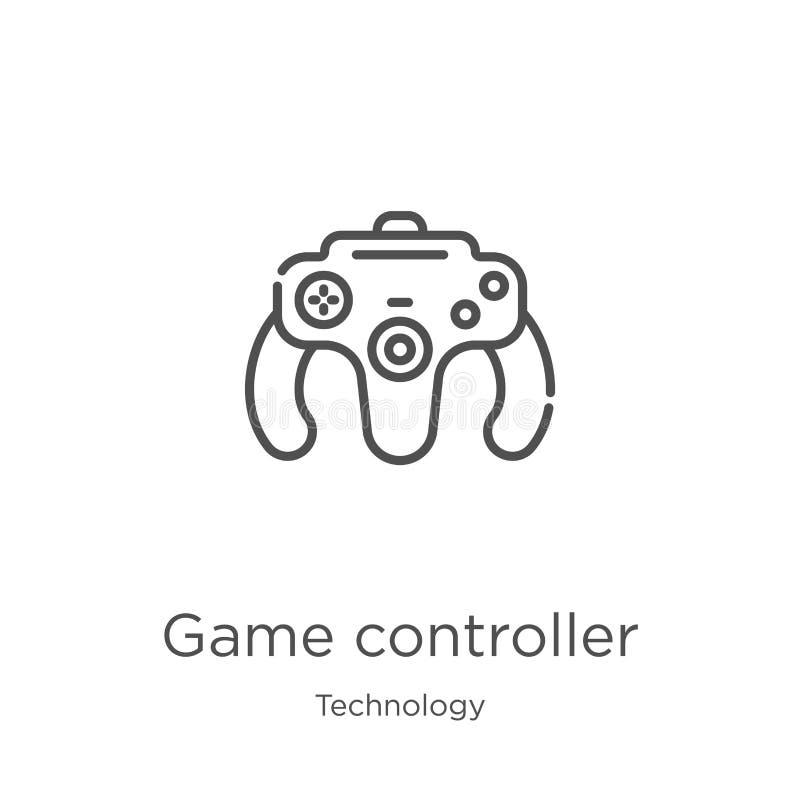 vecteur d'icône de contrôleur de jeu de collection de technologie Ligne mince illustration de vecteur d'ic?ne d'ensemble de contr illustration libre de droits