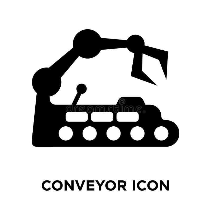 Vecteur d'icône de convoyeur d'isolement sur le fond blanc, concept de logo illustration libre de droits