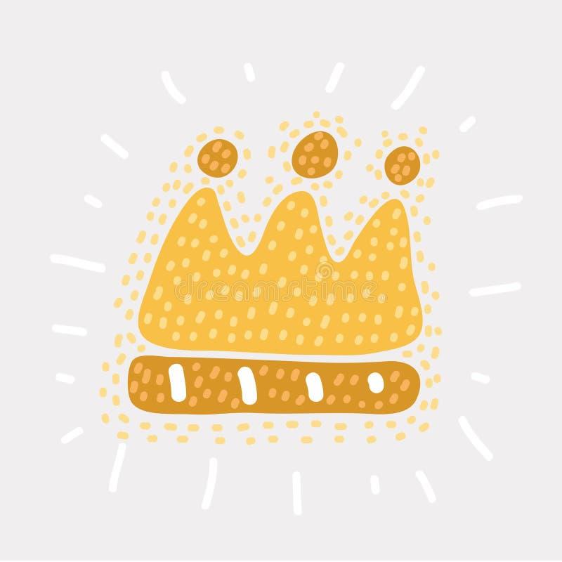 Vecteur d'icône de couronne illustration stock