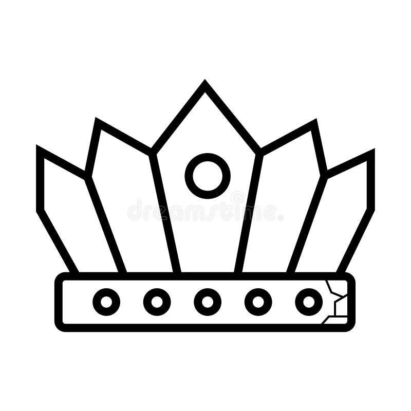 Vecteur d'icône de couronne illustration de vecteur