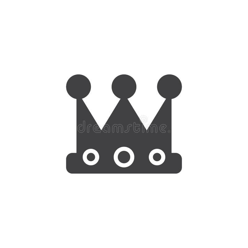 Vecteur d'icône de couronne de roi illustration libre de droits