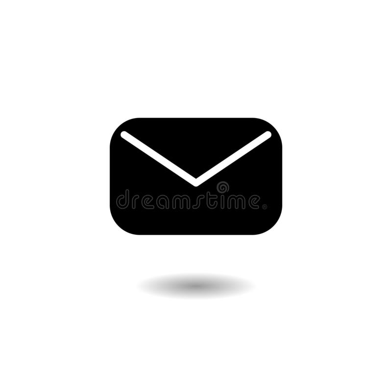 Vecteur d'icône de courrier, signe d'enveloppe, symbole de message illustration stock