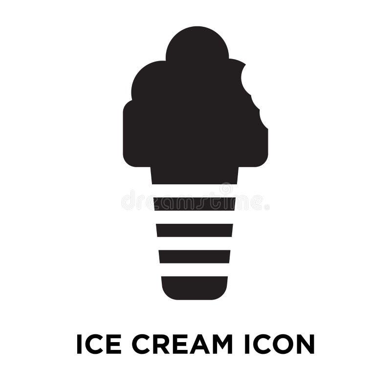 Vecteur d'icône de crème glacée d'isolement sur le fond blanc, concept de logo illustration de vecteur