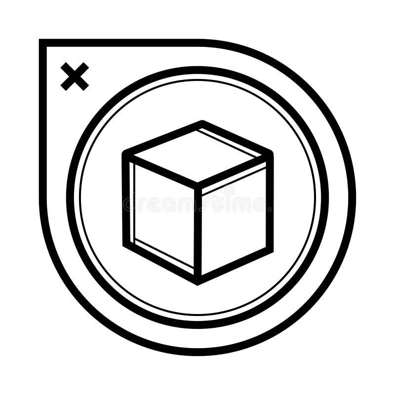 Vecteur d'icône de cube illustration stock