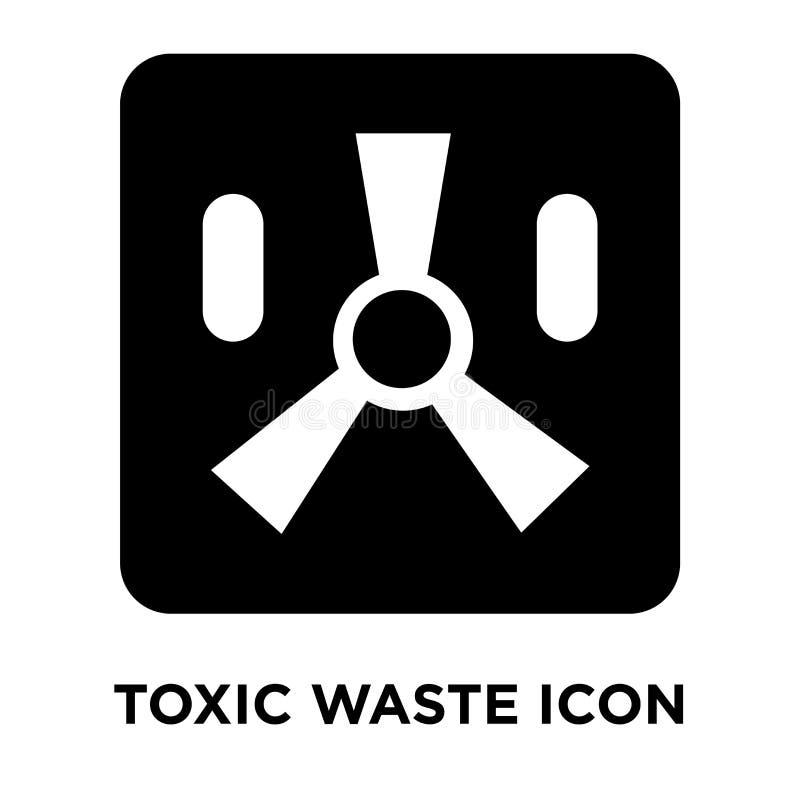 Vecteur d'icône de déchets toxiques d'isolement sur le fond blanc, conce de logo illustration stock