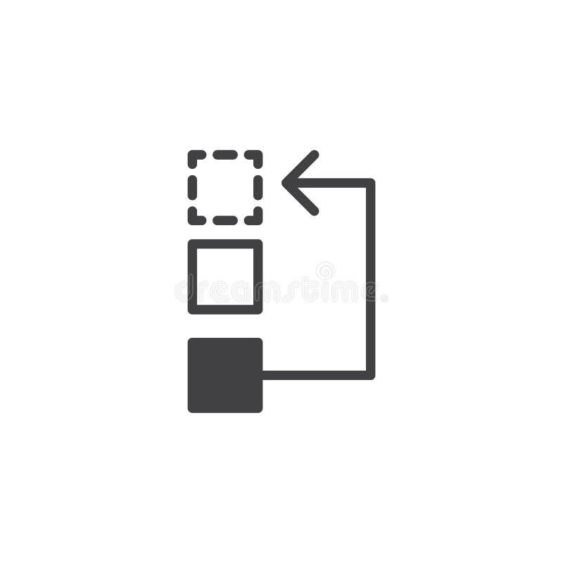 Vecteur d'icône de déroulement des opérations ou de processus illustration stock