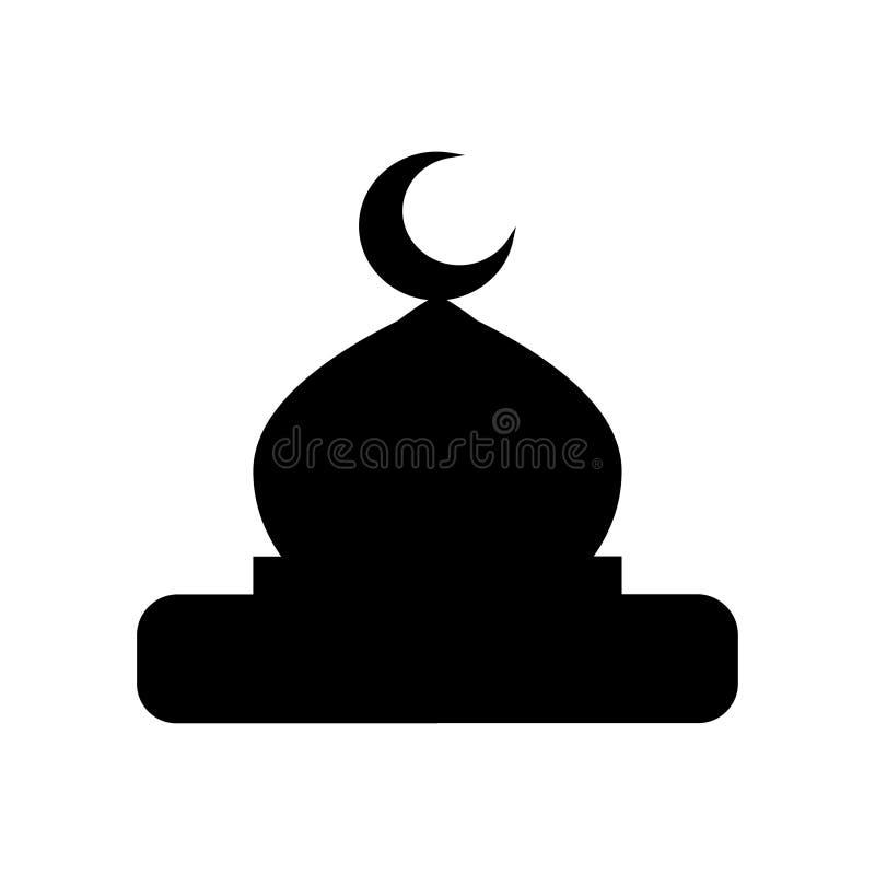 Vecteur d'icône de dôme de mosquée sur le fond blanc illustration stock