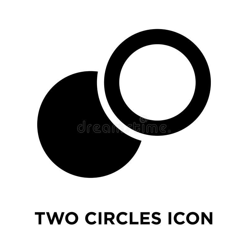 Vecteur d'icône de deux cercles d'isolement sur le fond blanc, conce de logo illustration stock