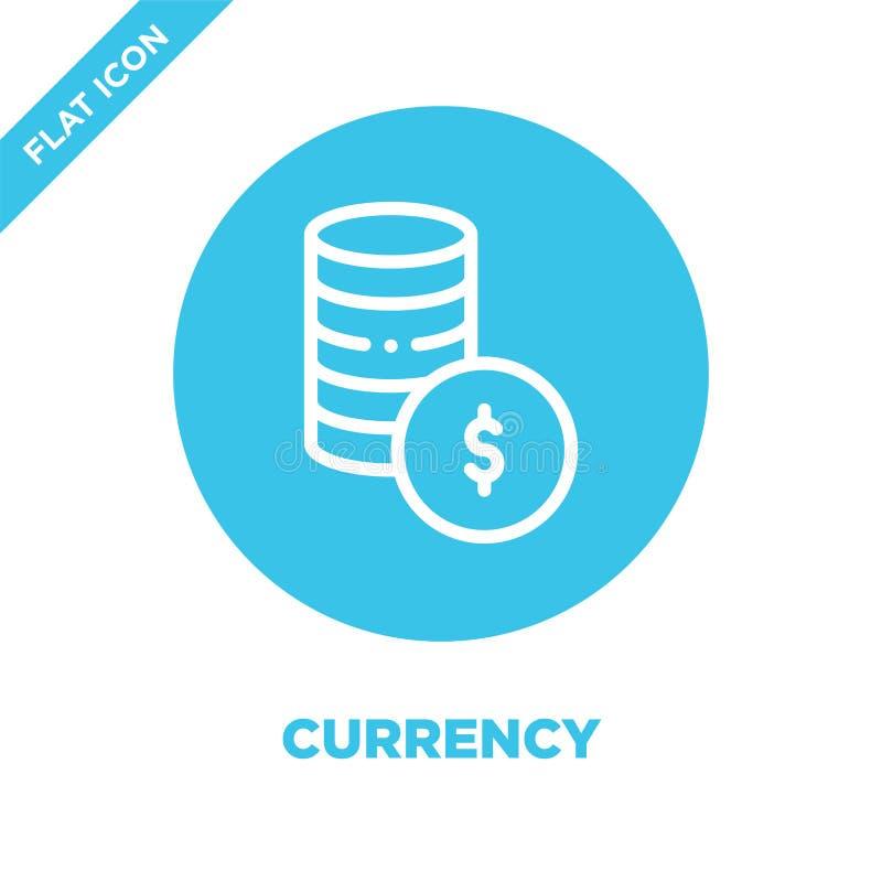 vecteur d'icône de devise Ligne mince illustration de vecteur d'icône d'ensemble de devise symbole monétaire pour l'usage sur le  illustration stock