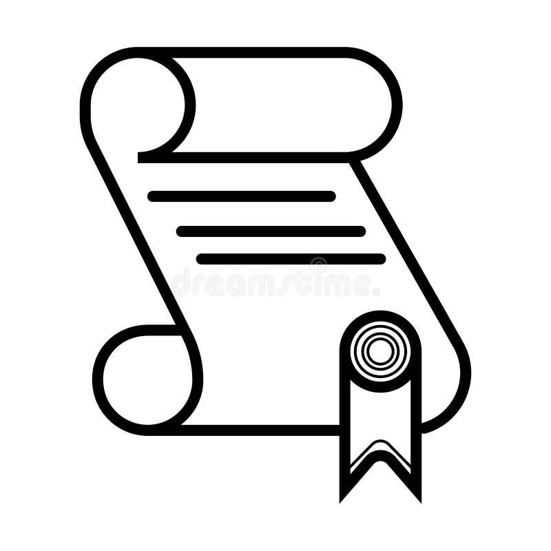 Vecteur d'icône de diplôme illustration de vecteur