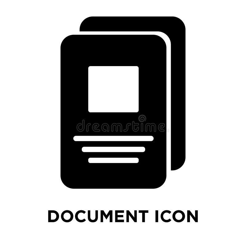 Vecteur d'icône de document d'isolement sur le fond blanc, concept de logo illustration stock