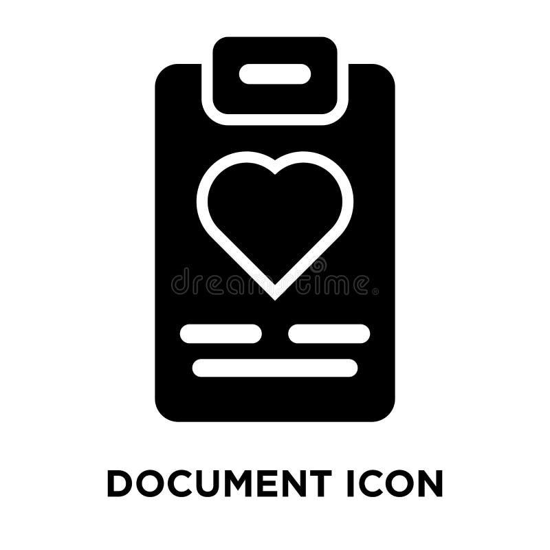 Vecteur d'icône de document d'isolement sur le fond blanc, concept de logo illustration de vecteur