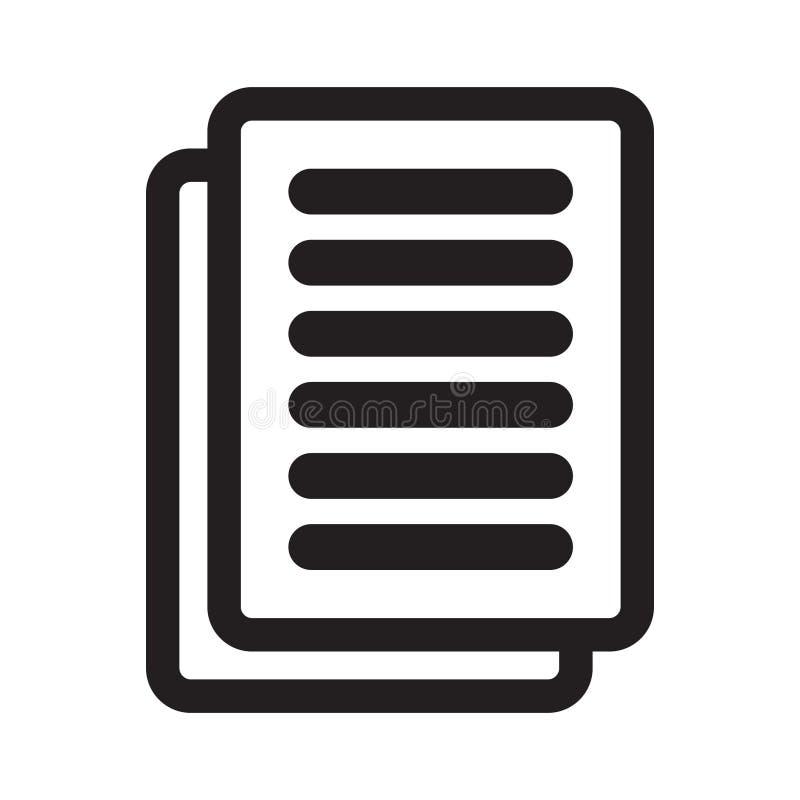 Vecteur d'icône de document Symbole plat simple illustration de vecteur