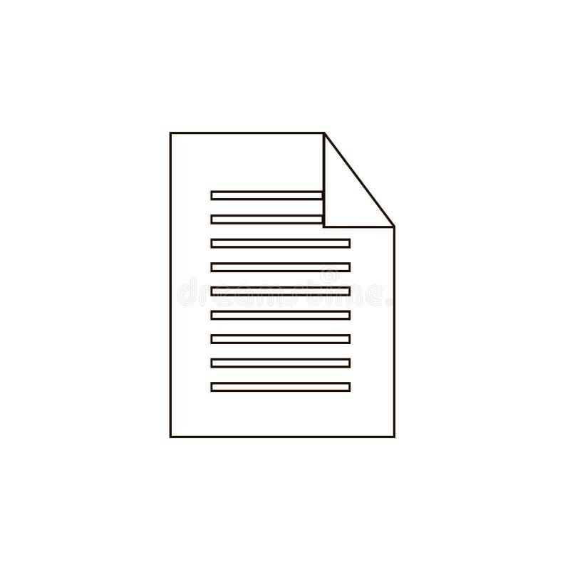 Vecteur d'icône de document Symbole plat simple Illustration noire parfaite de pictogramme sur le fond blanc EPS10 illustration de vecteur