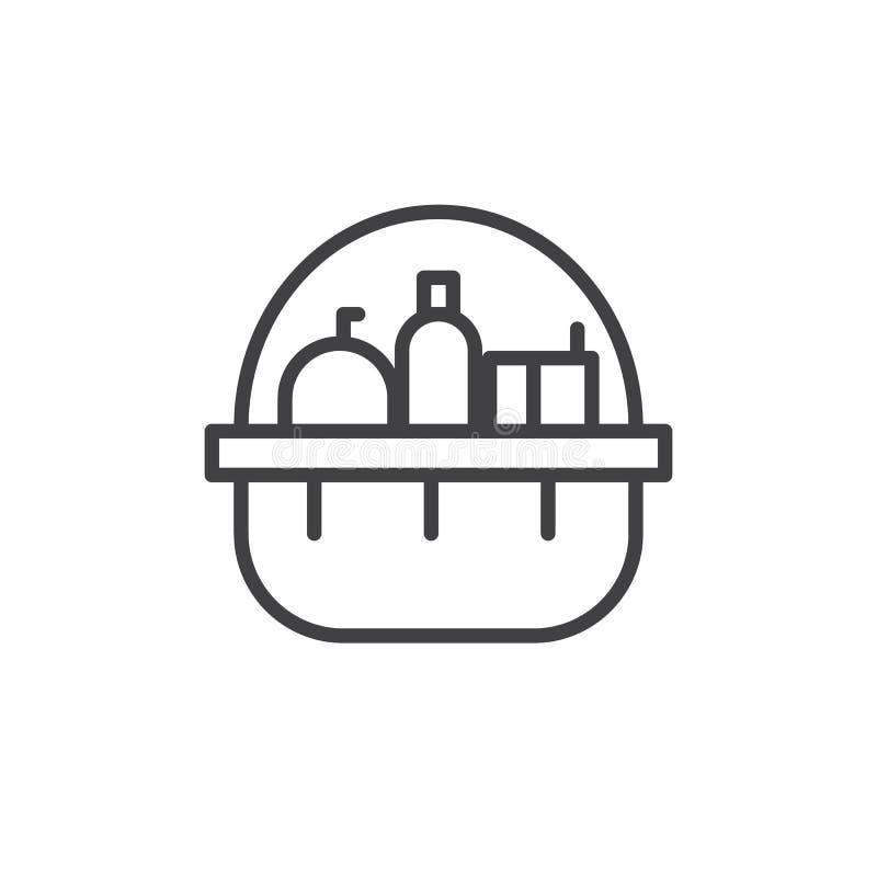 Vecteur d'icône de donation illustration stock