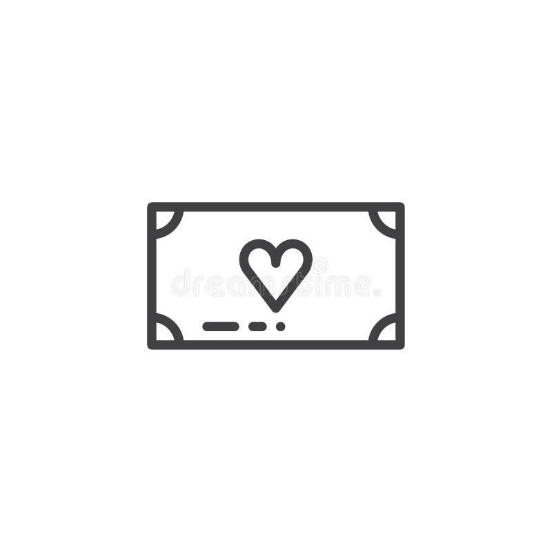 Vecteur d'icône de donation d'argent illustration stock