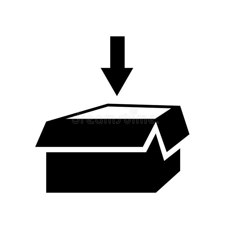 Vecteur d'icône de donation de charité d'isolement sur le fond blanc, signe de donation de charité illustration stock