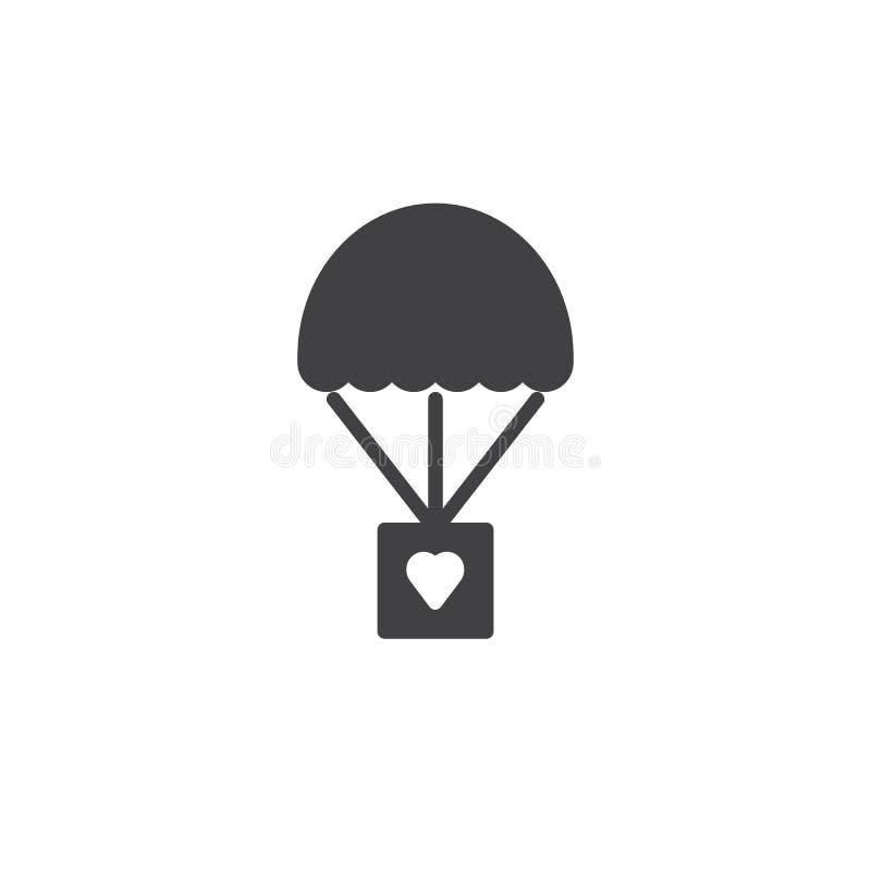 Vecteur d'icône de donation de paquet illustration de vecteur