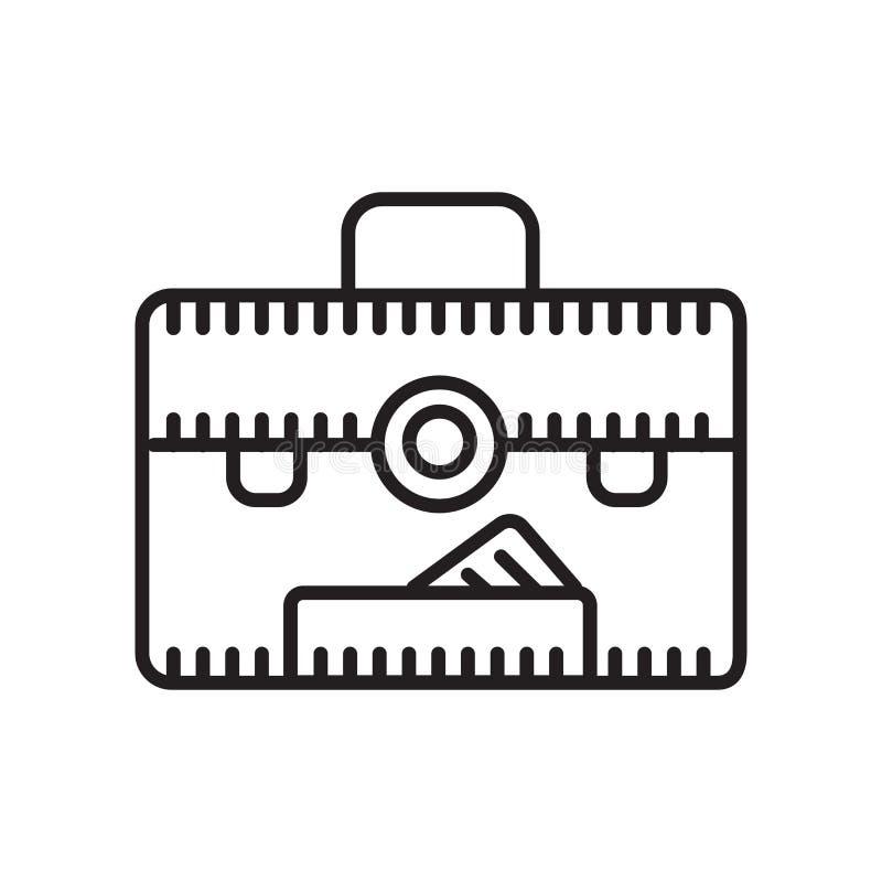 Vecteur d'icône de dossier d'isolement sur le fond, le signe de dossier, le signe et les symboles blancs dans le style linéaire m illustration libre de droits
